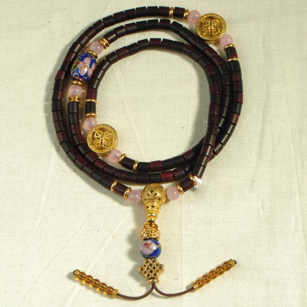 宝篆 小叶紫檀桶珠手链 G3-9