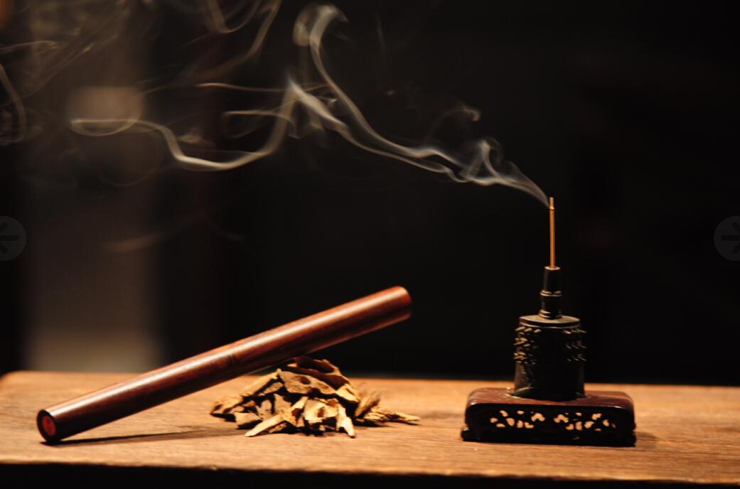 宝篆沉香  沉香线香7寸木管装  紫檀材质送礼佳品