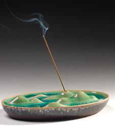 宝篆沉香  山光水色 德化陶瓷釉线香香插 纯手工制作